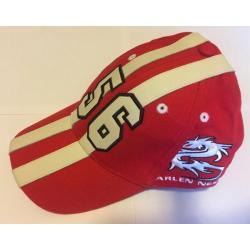 Arlen Ness Base Cap Stripes red