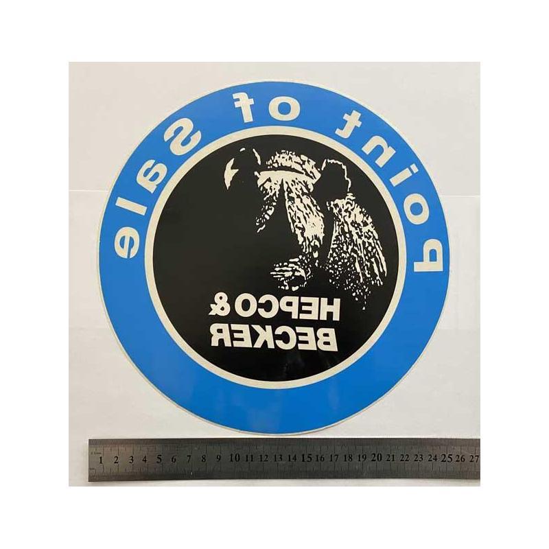 Hepco Becker point of sale наклейка