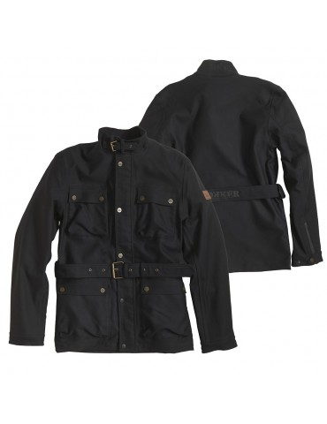 Rokker Black Jacket long