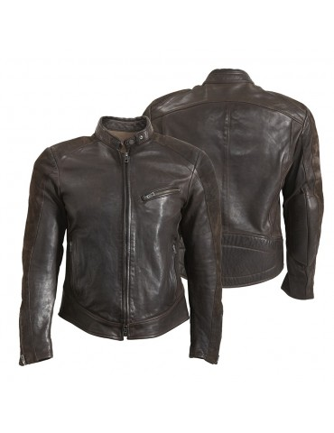 Rokker Cafe Racer leather Jacket