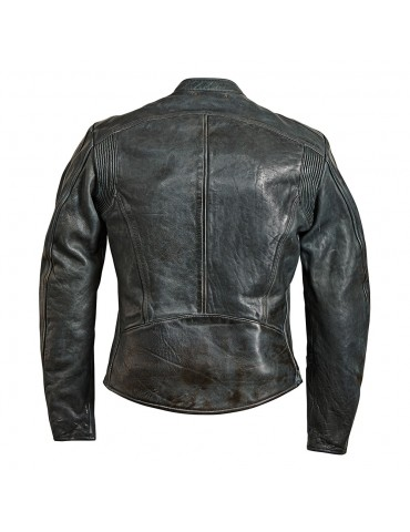 Rokker street leather Jacket grey