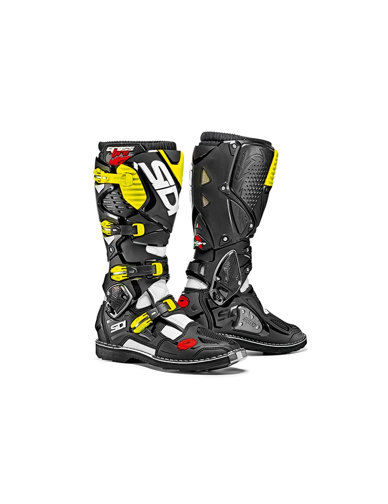 Sidi Crossfire 3 White Black Yellow Fluo